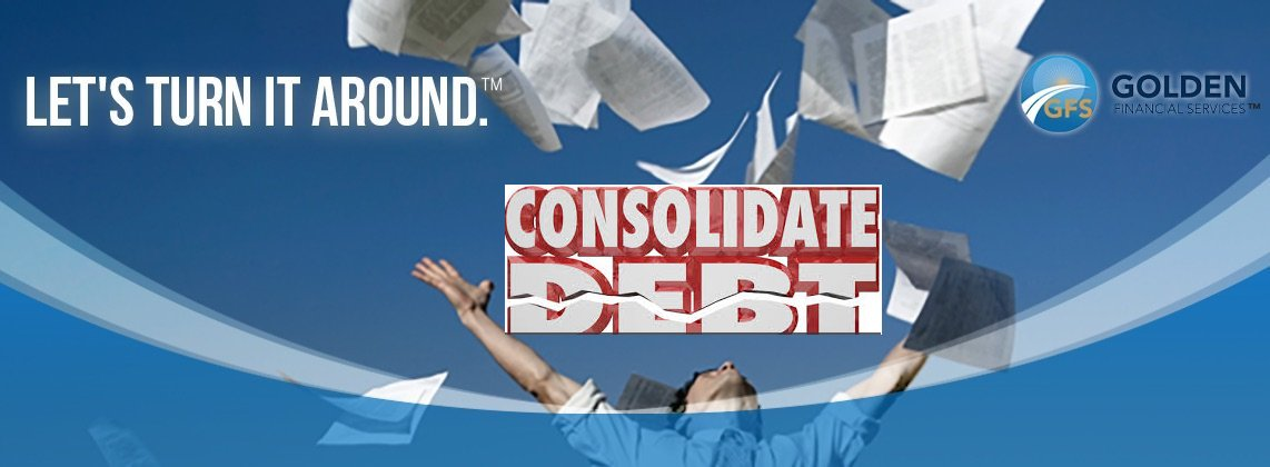 Free Yourself From Debt by Consolidating Your Credit Cards at Golden Financial Services.