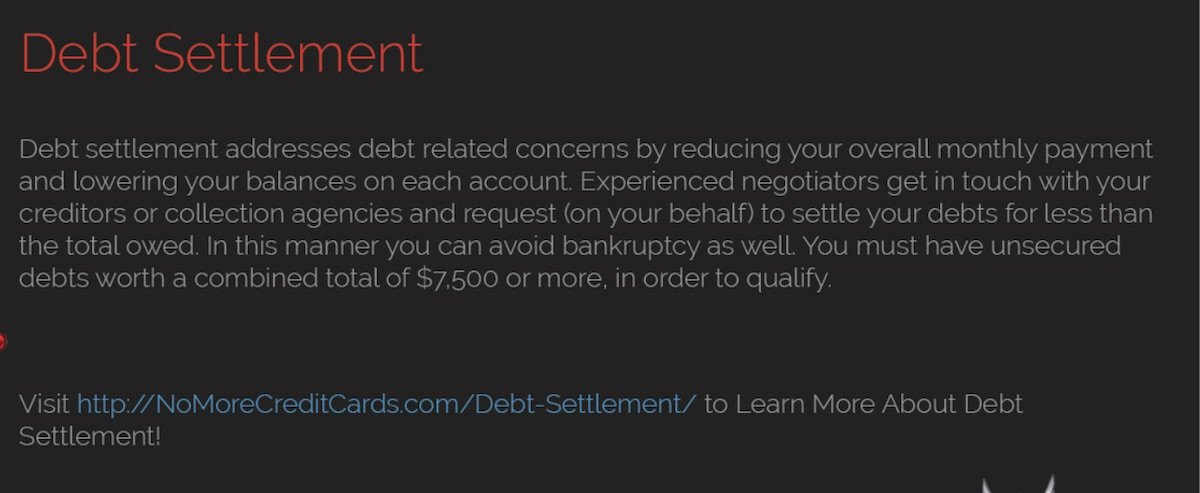 How to Choose a Debt Settlement Company forecast