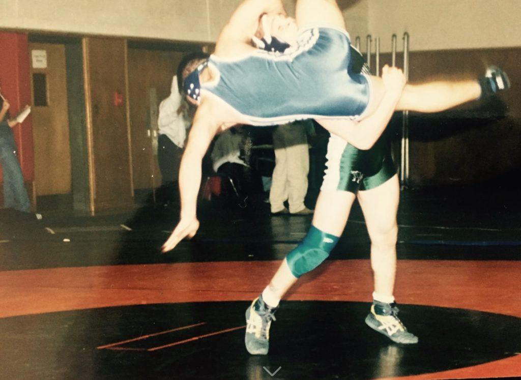 Paul Paquin - wrestling - double leg takedown