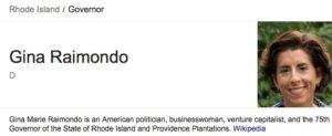 Gina Raimondo - Governor or Rhode Island