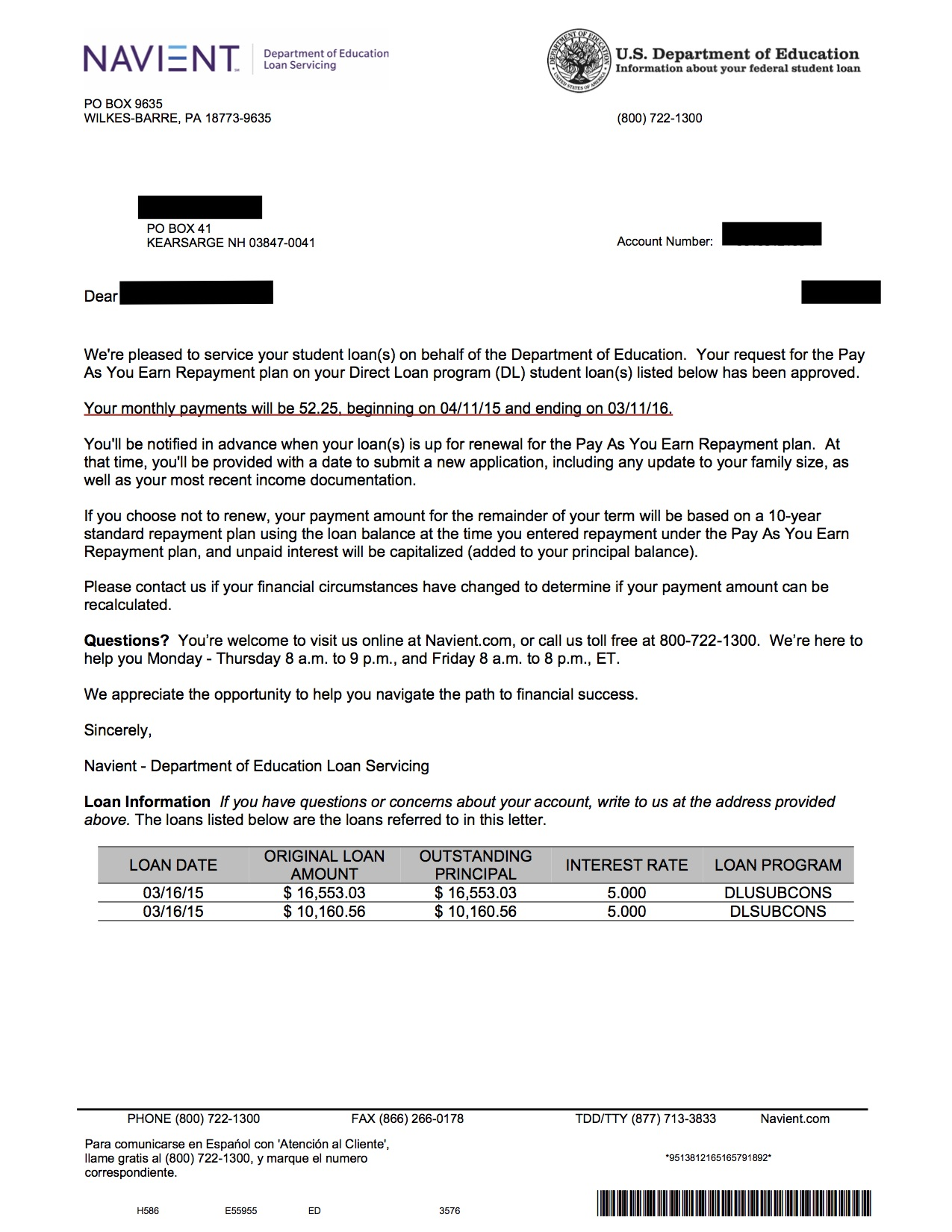 Debt Reduction Chicago (example letter)