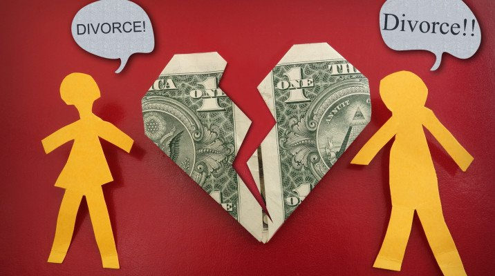 Divorce over finances and money