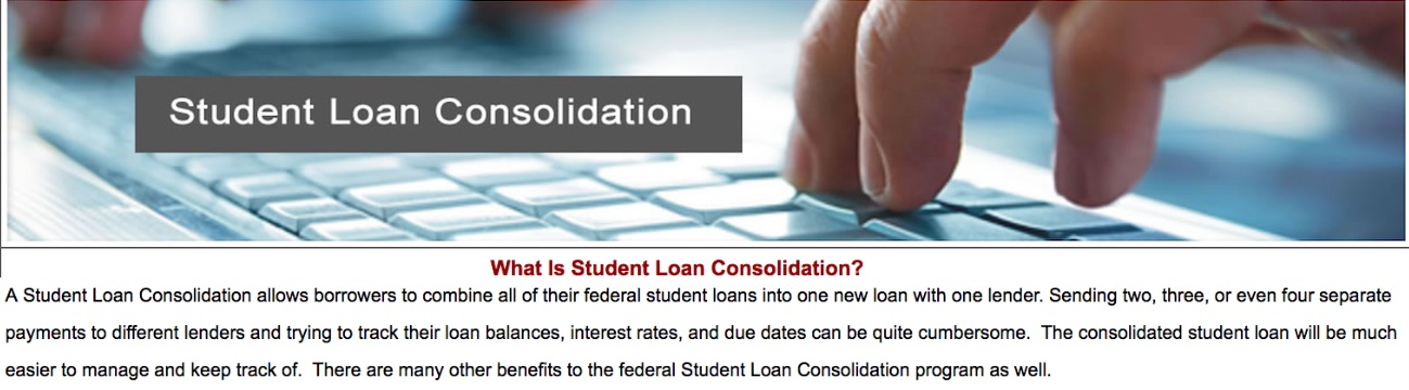 What is a student loan consolidation program?