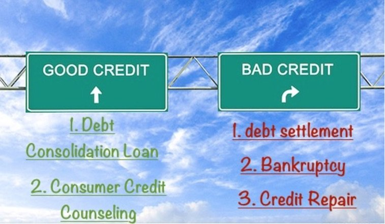 How do debt relief programs affect a person's credit?