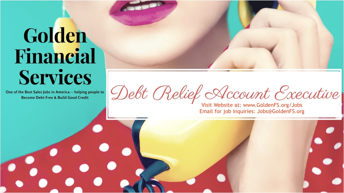 Debt Relief Account Executives - one of the best jobs for 2017!