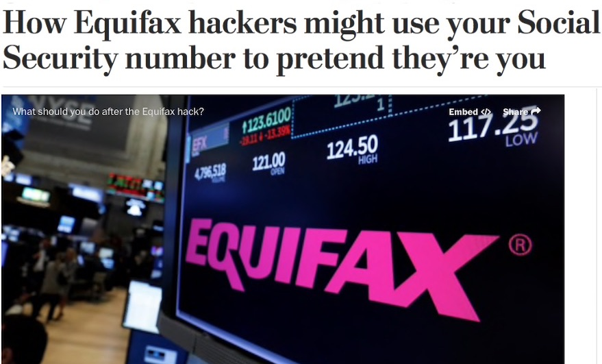The True Effect of The Equifax 2017 Cyber Attack
