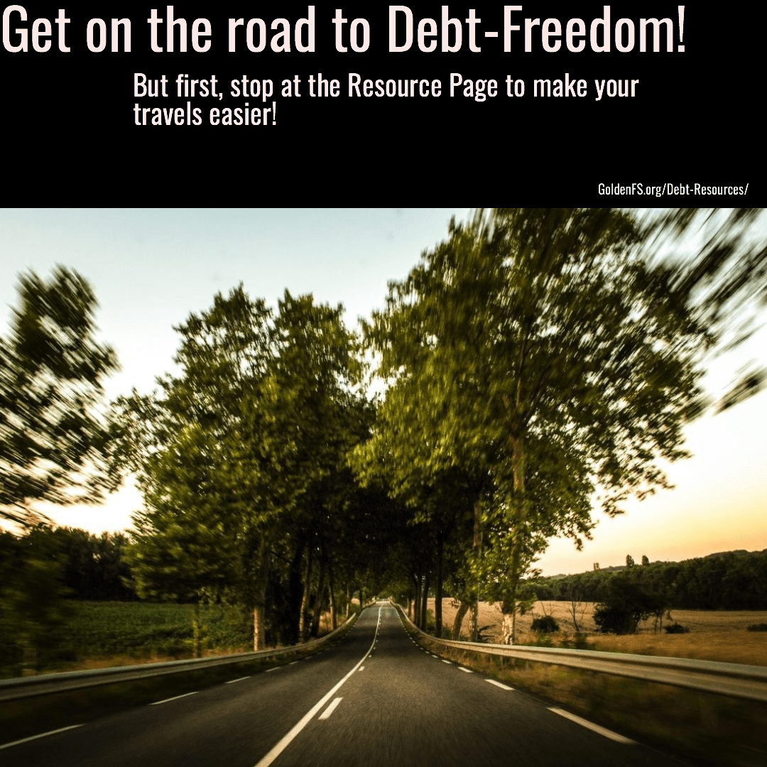 Debt Relief Resource Page at GoldenFS.org