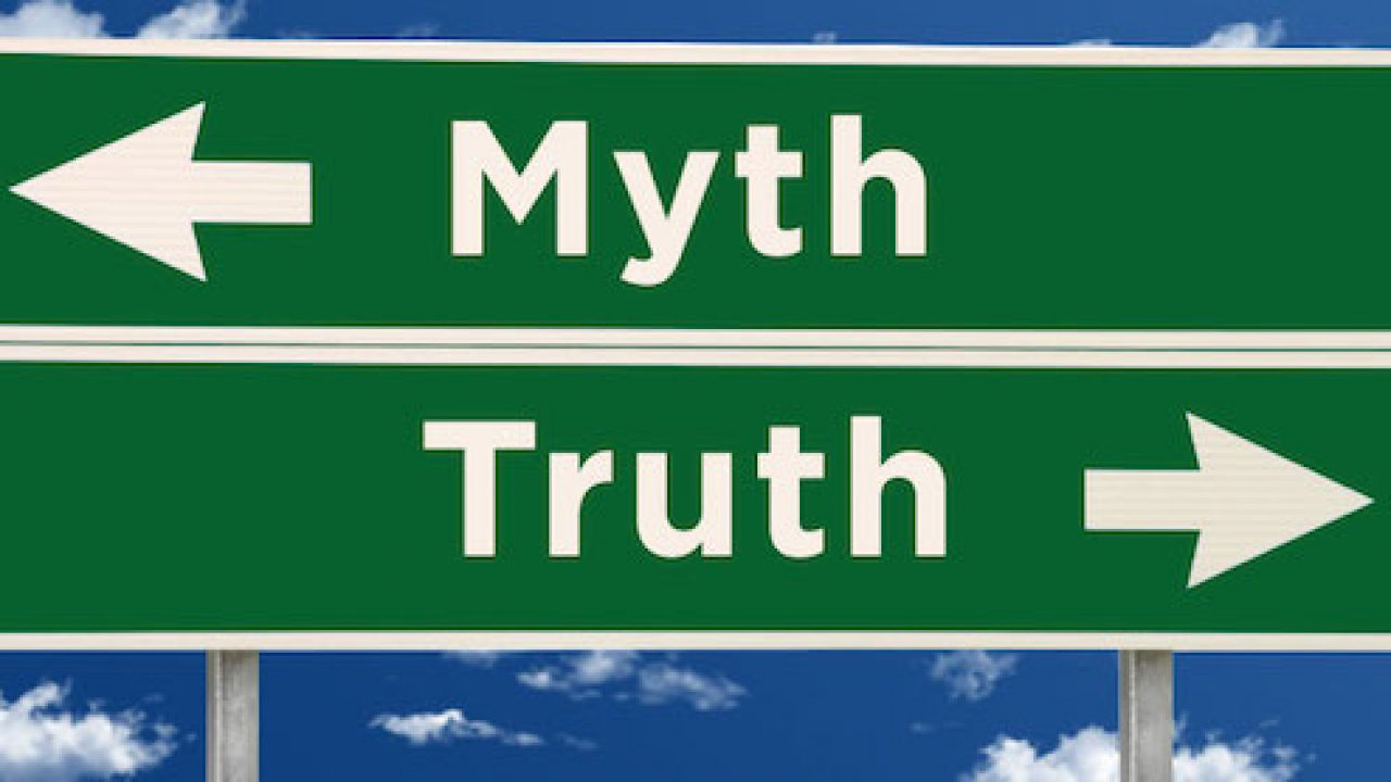 Myth and truth road sign