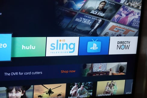 Sling, PlayStation VUE, Hulu