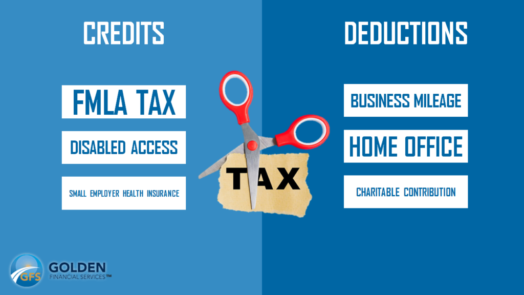 Tax credits vs tax deductions