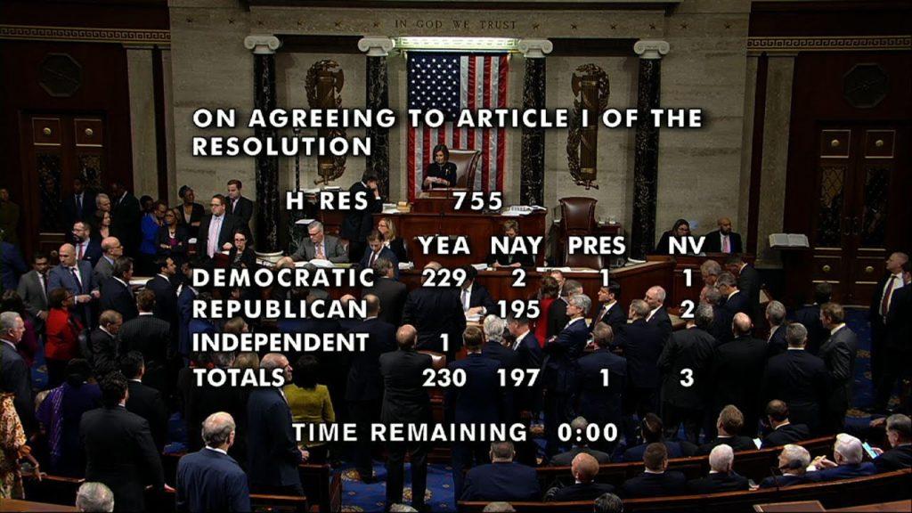 Republican impeachment vote