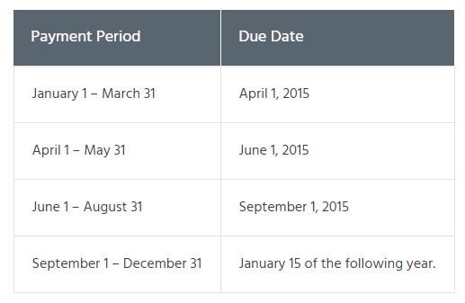 Freelancer Tax Filing Schedule 2020