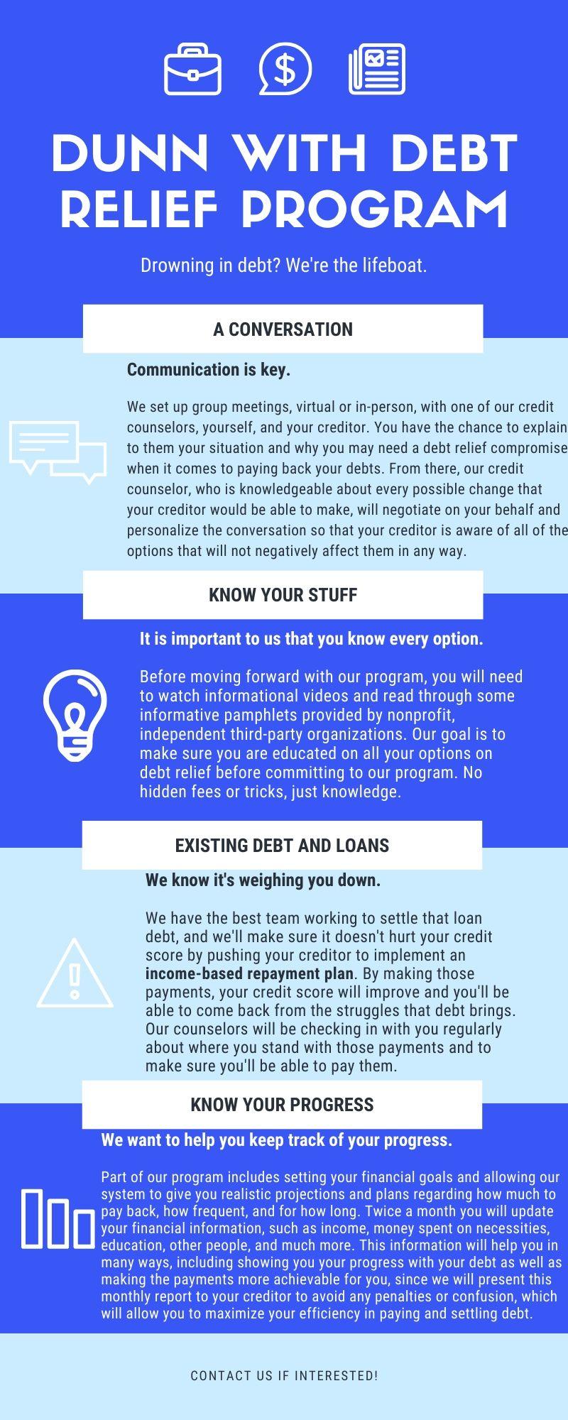 a new debt relief program