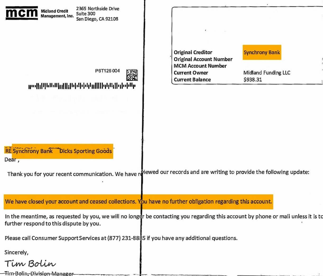 MCM Midland Credit Management Debt Collection