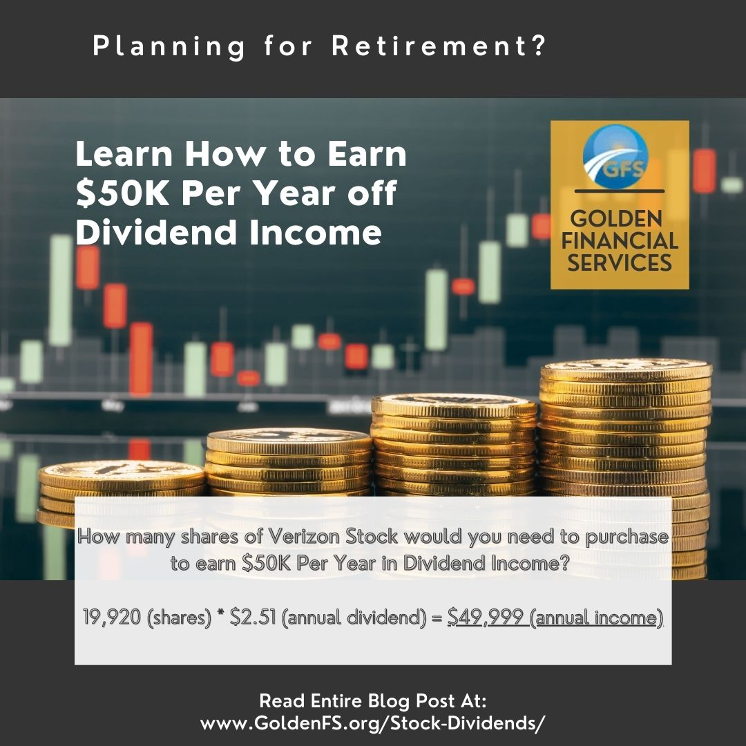 Earn $50K per year in stock dividend income
