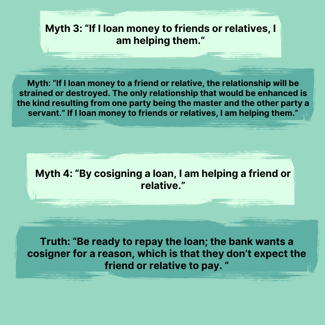 The Total Money Makeover Summary Myths 3-4