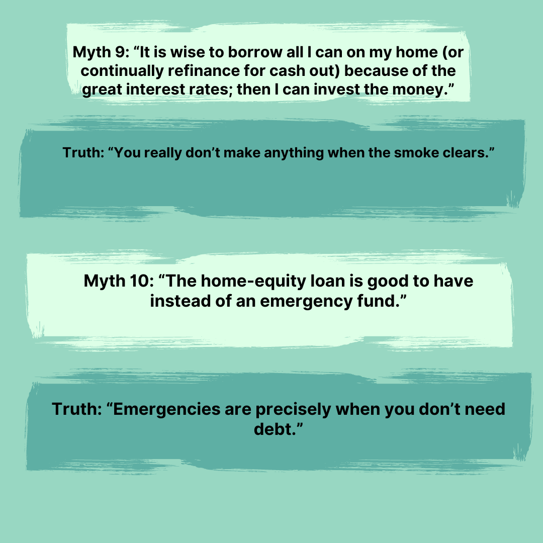Myths 9-10 from The Total Money Makeover