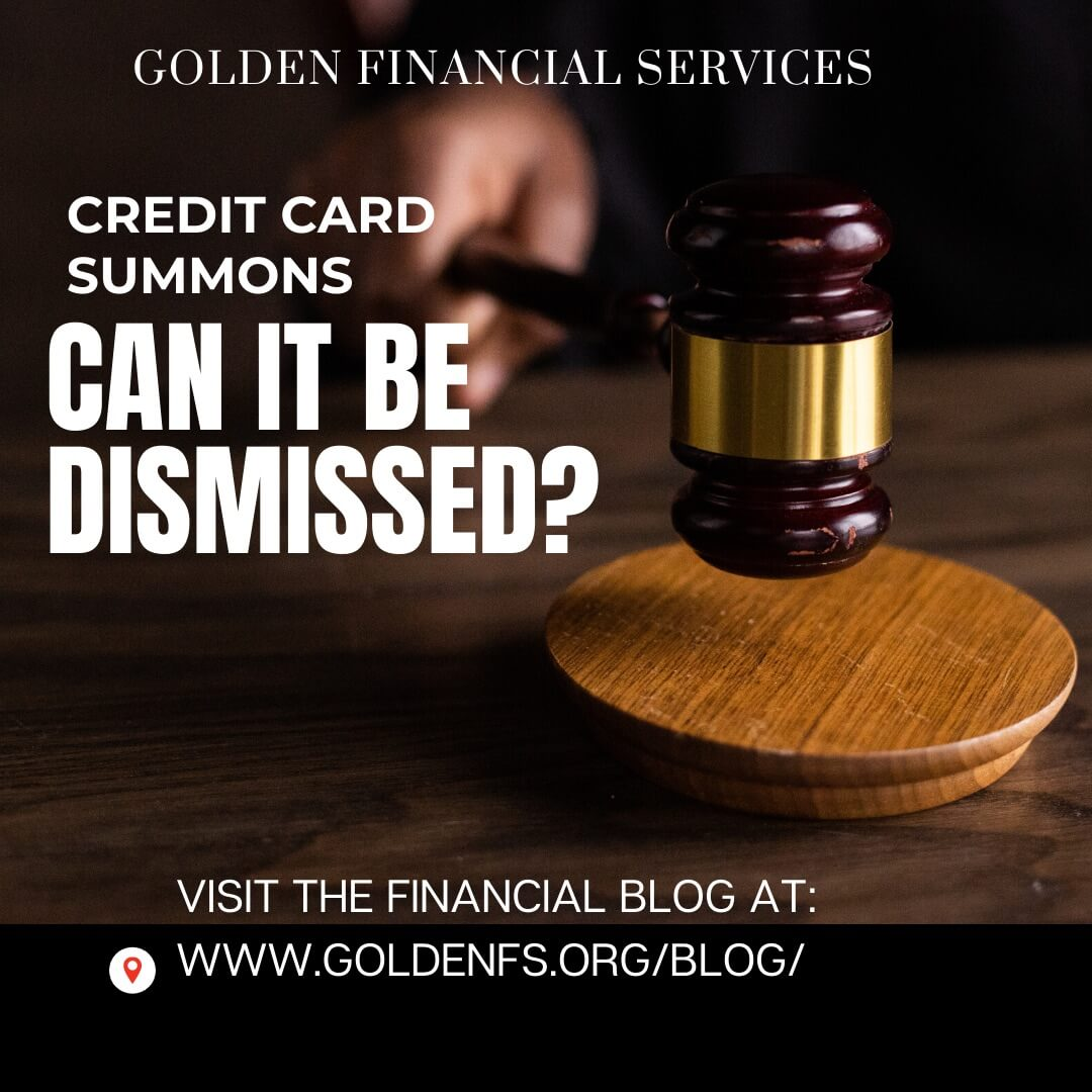 can you get a summons dismissed by attending court for credit card debt